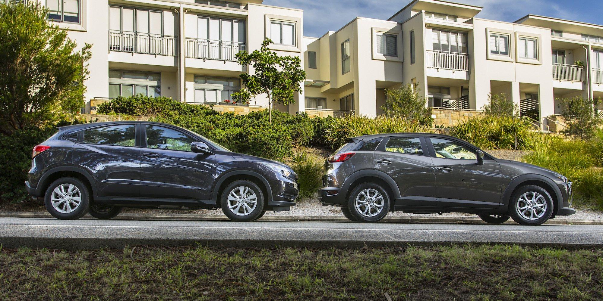 Mazda Cx 3 Vs Honda Hrv >> Honda Hr V Vti V Mazda Cx 3 Maxx Comparison Review Caradvice
