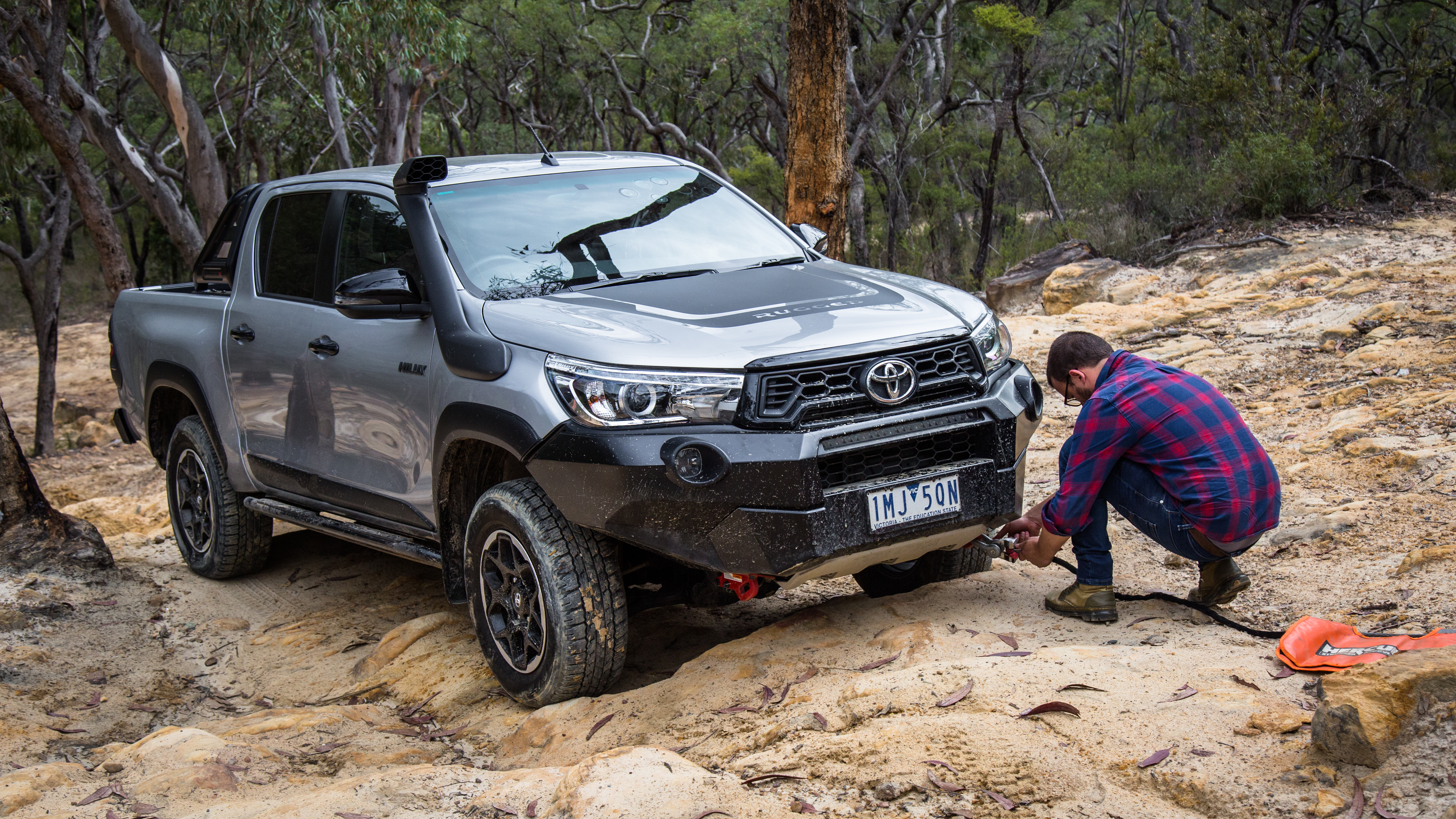 2019 Toyota HiLux Rugged X off-road review   CarAdvice