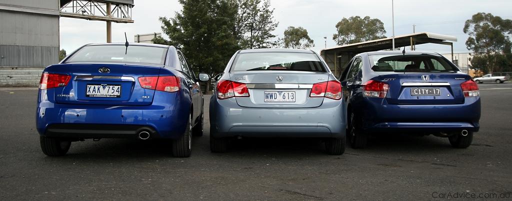 Comparison Review Honda City Holden Cruze Kia Cerato