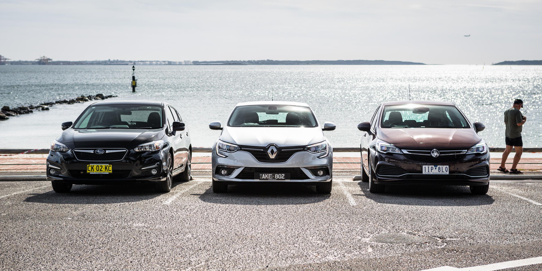 Small hatchback comparison: Holden Astra v Renault Megane v