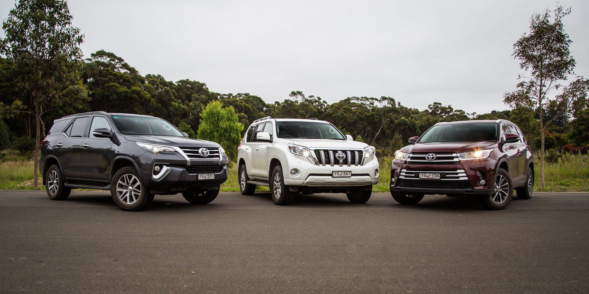 Toyota SUV comparison: Fortuner v Kluger v Prado | CarAdvice