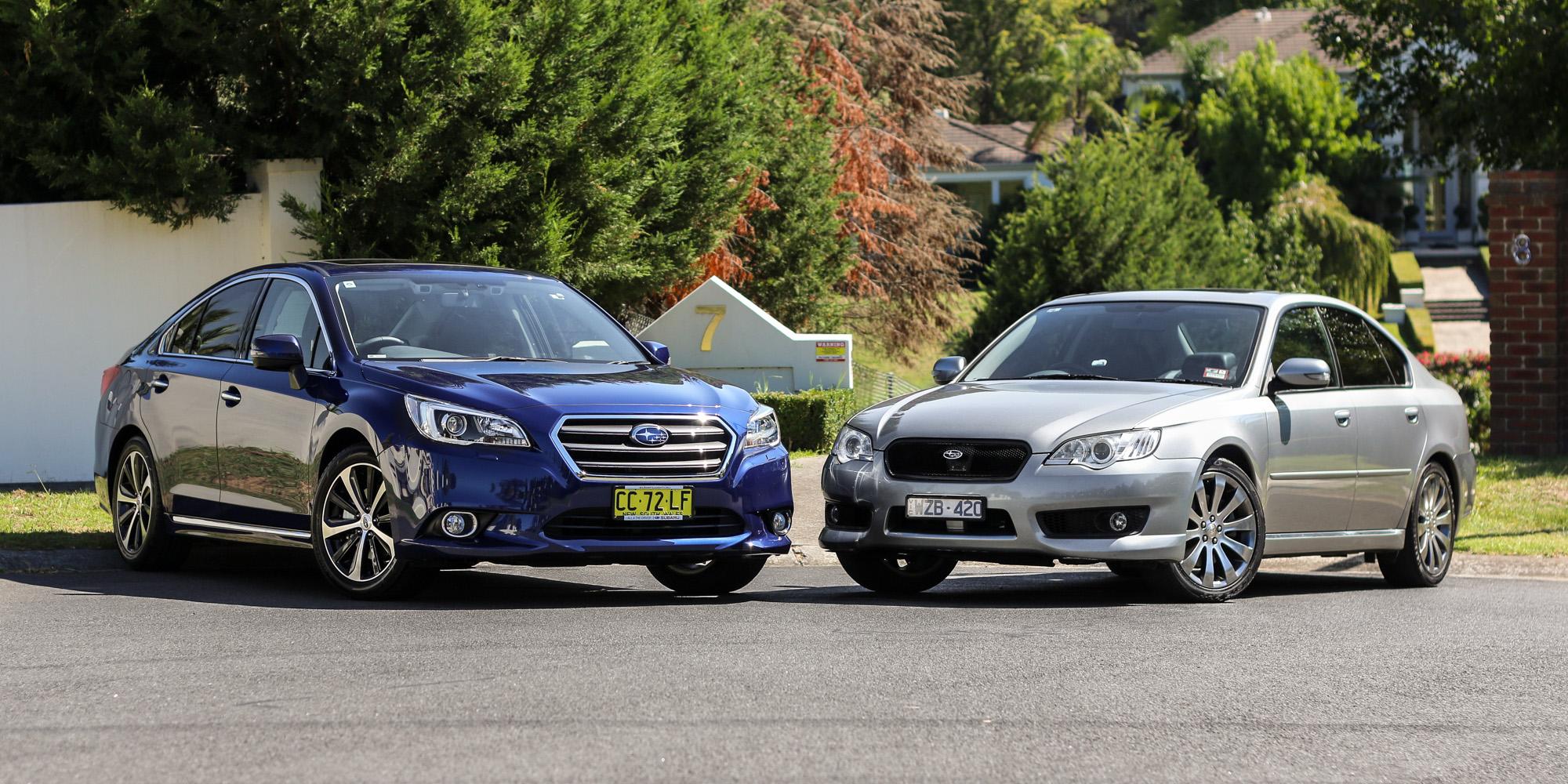 Subaru Liberty Old v New Comparison: Fourth-generation 3 0R v sixth