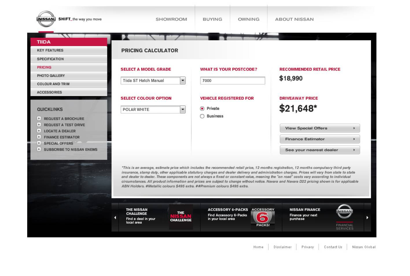Nissan launches online pricing calculator | CarAdvice
