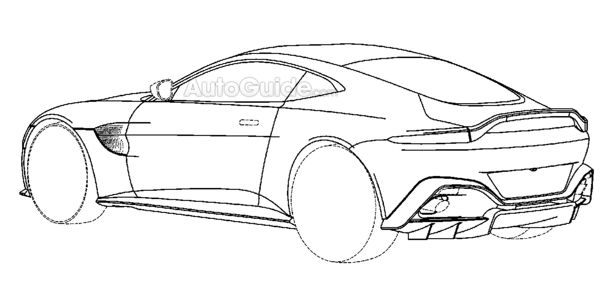 2018 Aston Martin Vantage Patent Diagrams Discovered