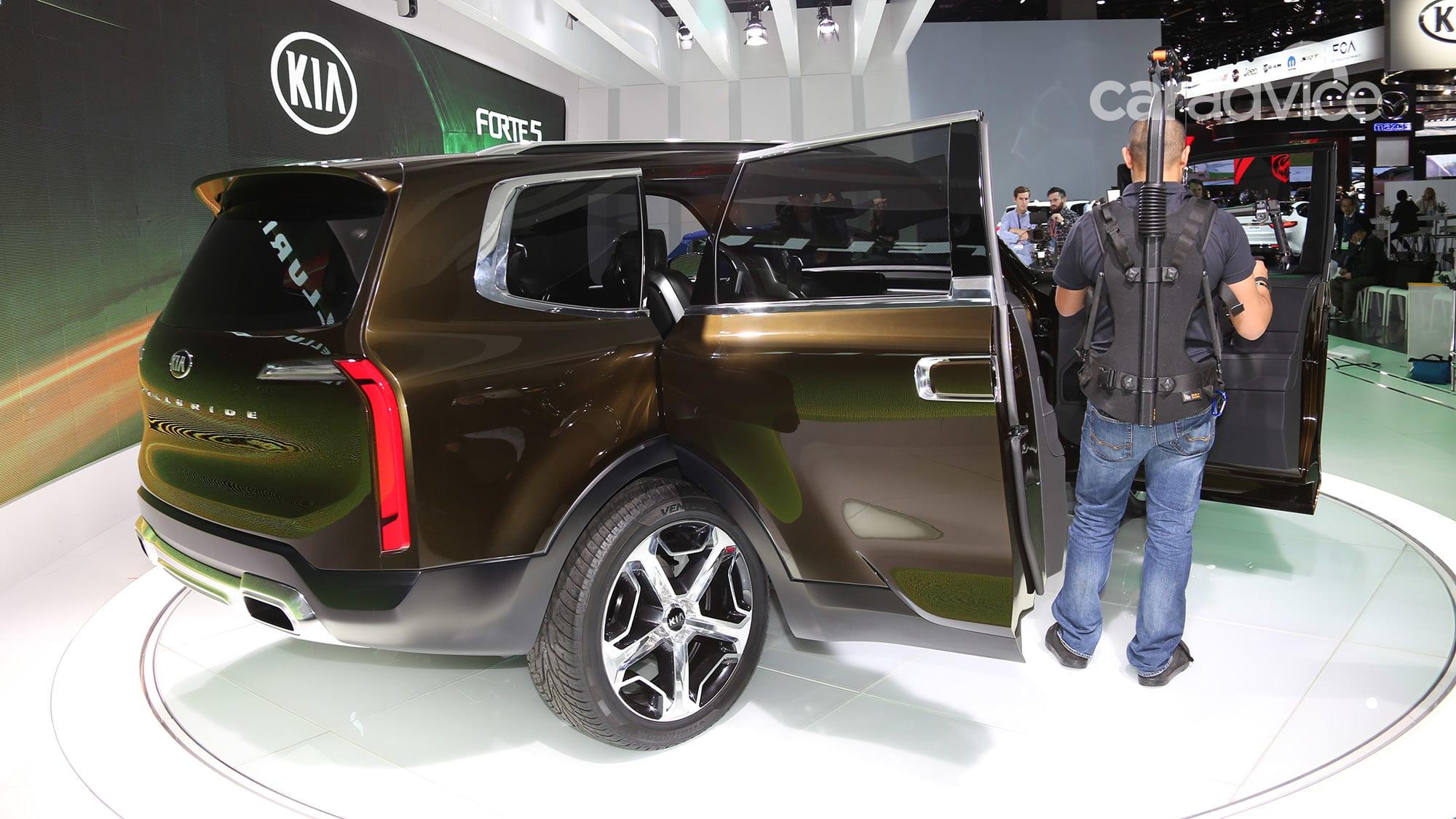 kia telluride 298kw hybrid suv concept hits detroit show