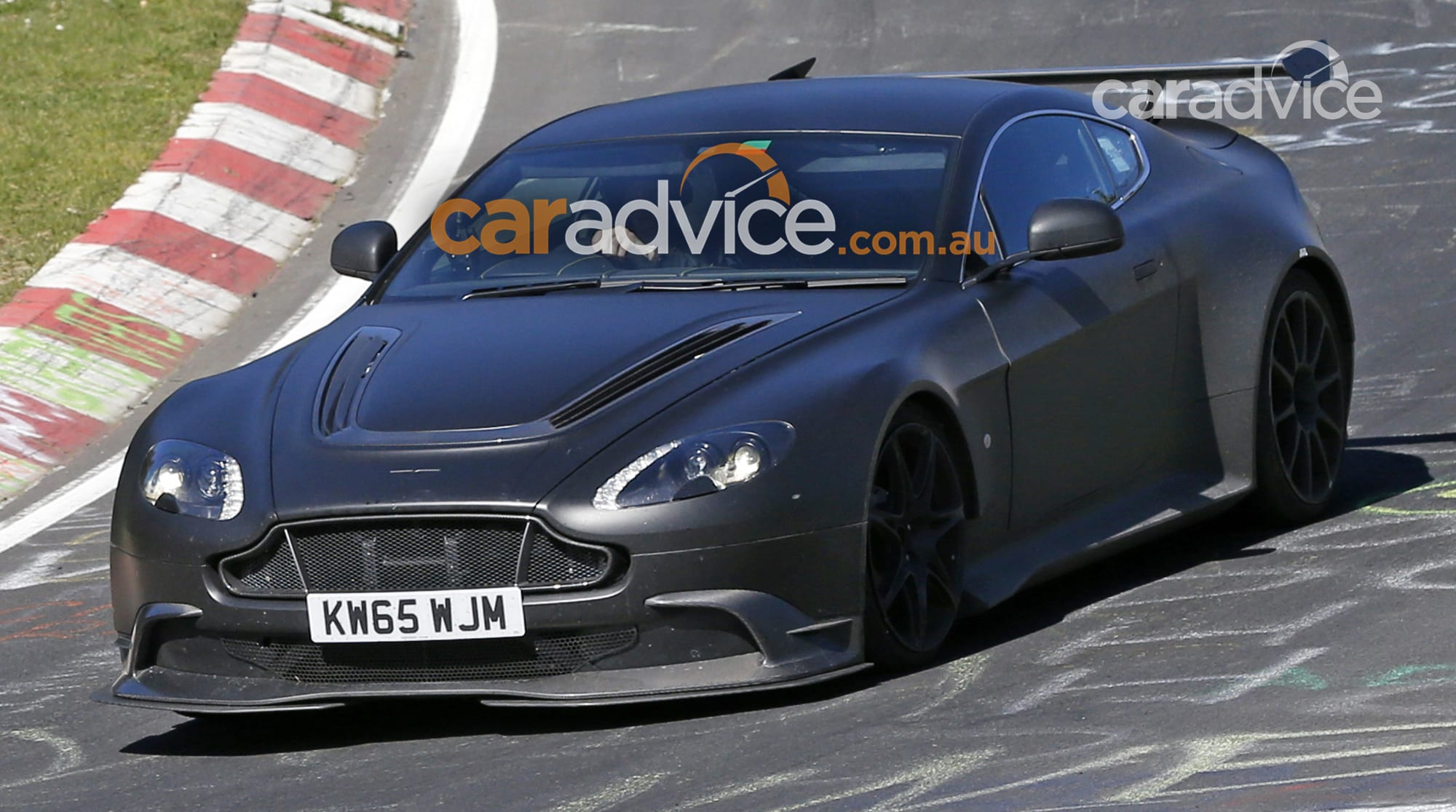2016 Aston Martin Vantage Gt8 Spied Testing At The Nurburgring Caradvice