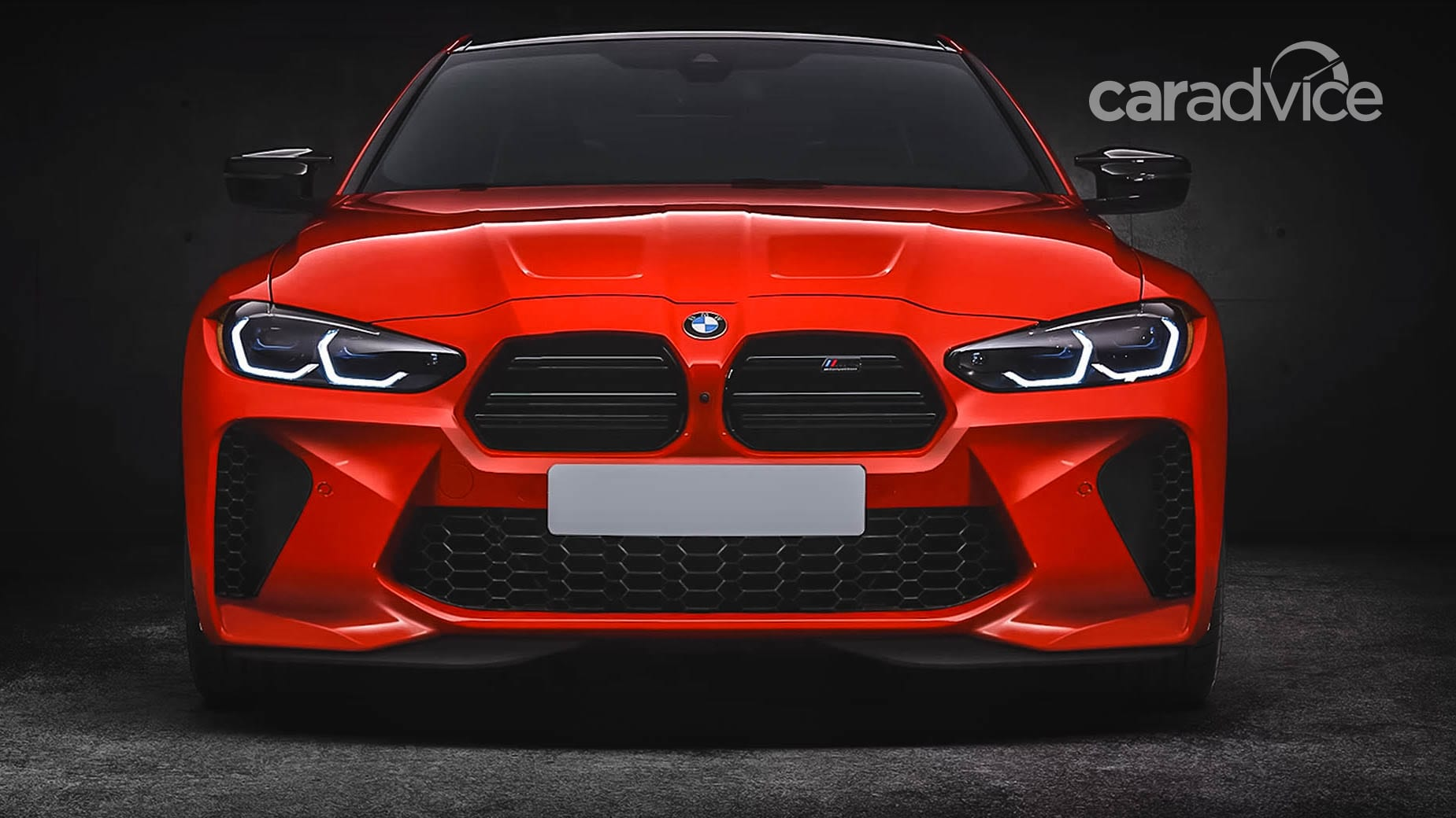 Aftermarket BMW M3 and M4 grilles and bumper set for ...