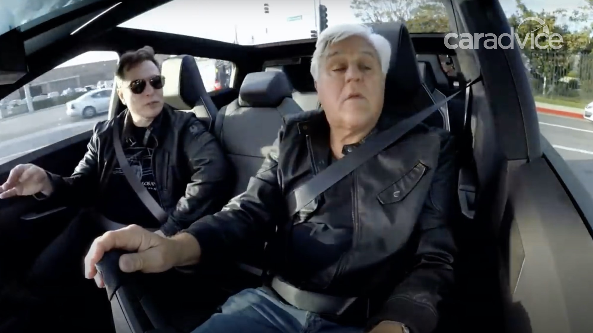 Tesla Cybertruck tested: Jay Leno takes Elon Musk for a ...
