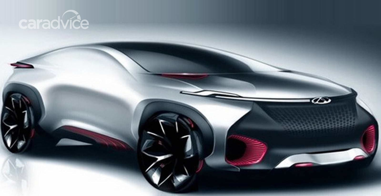 Chery FV2030 Concept side profile at Auto China 2016