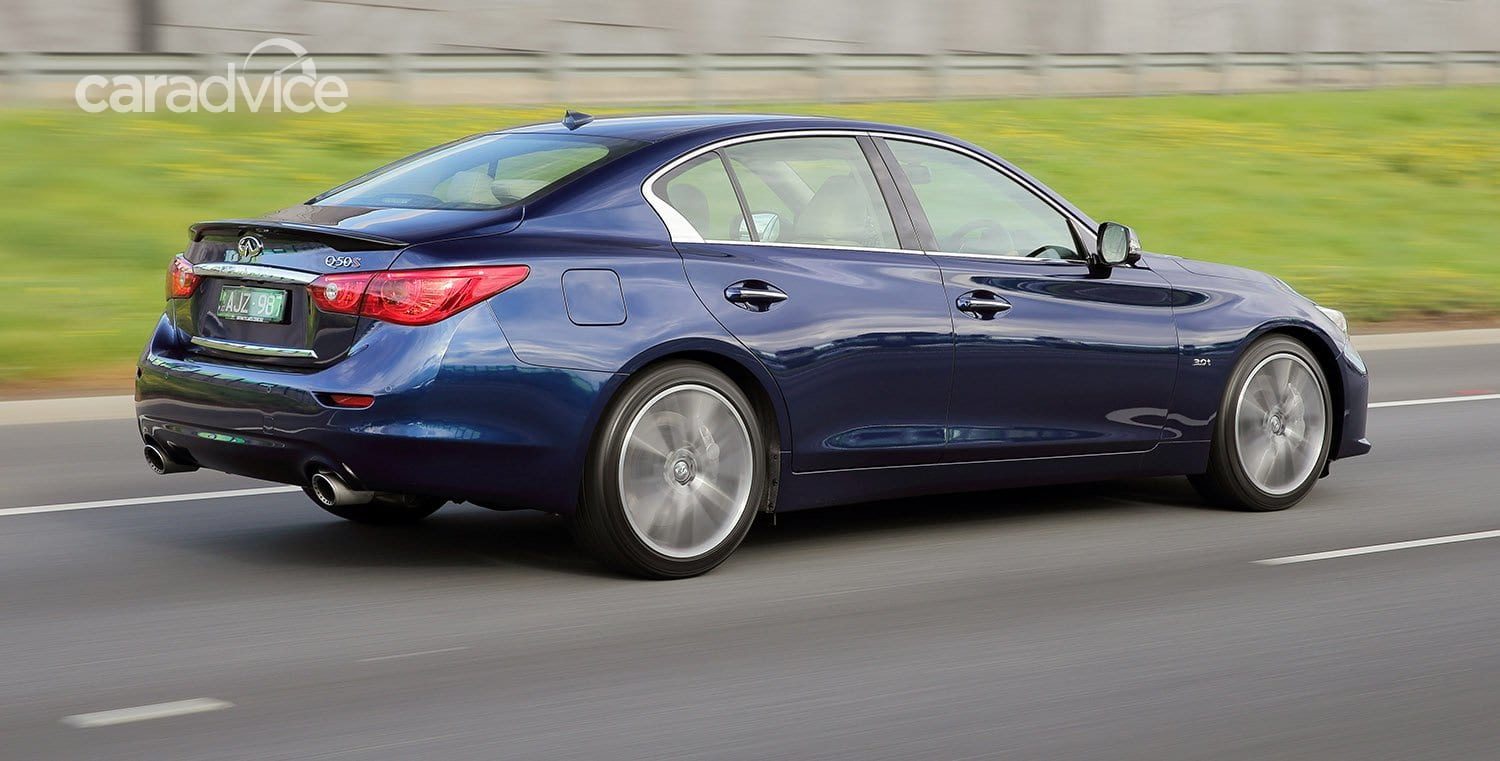 infiniti turbo q50 v6 twin 298kw pricing specs tops updated line caradvice