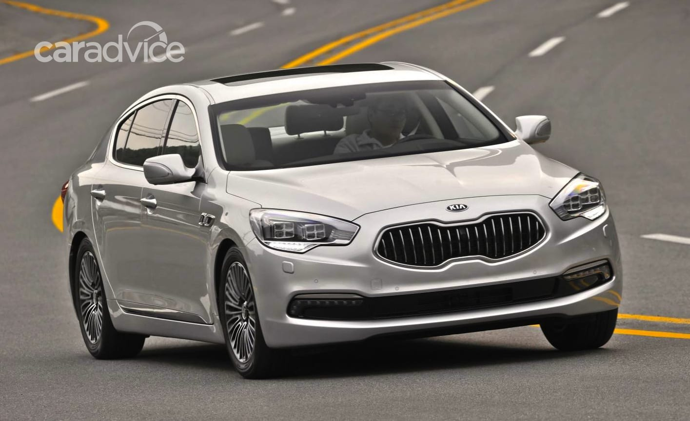 kia quoris luxury sedan to make australian debut  caradvice