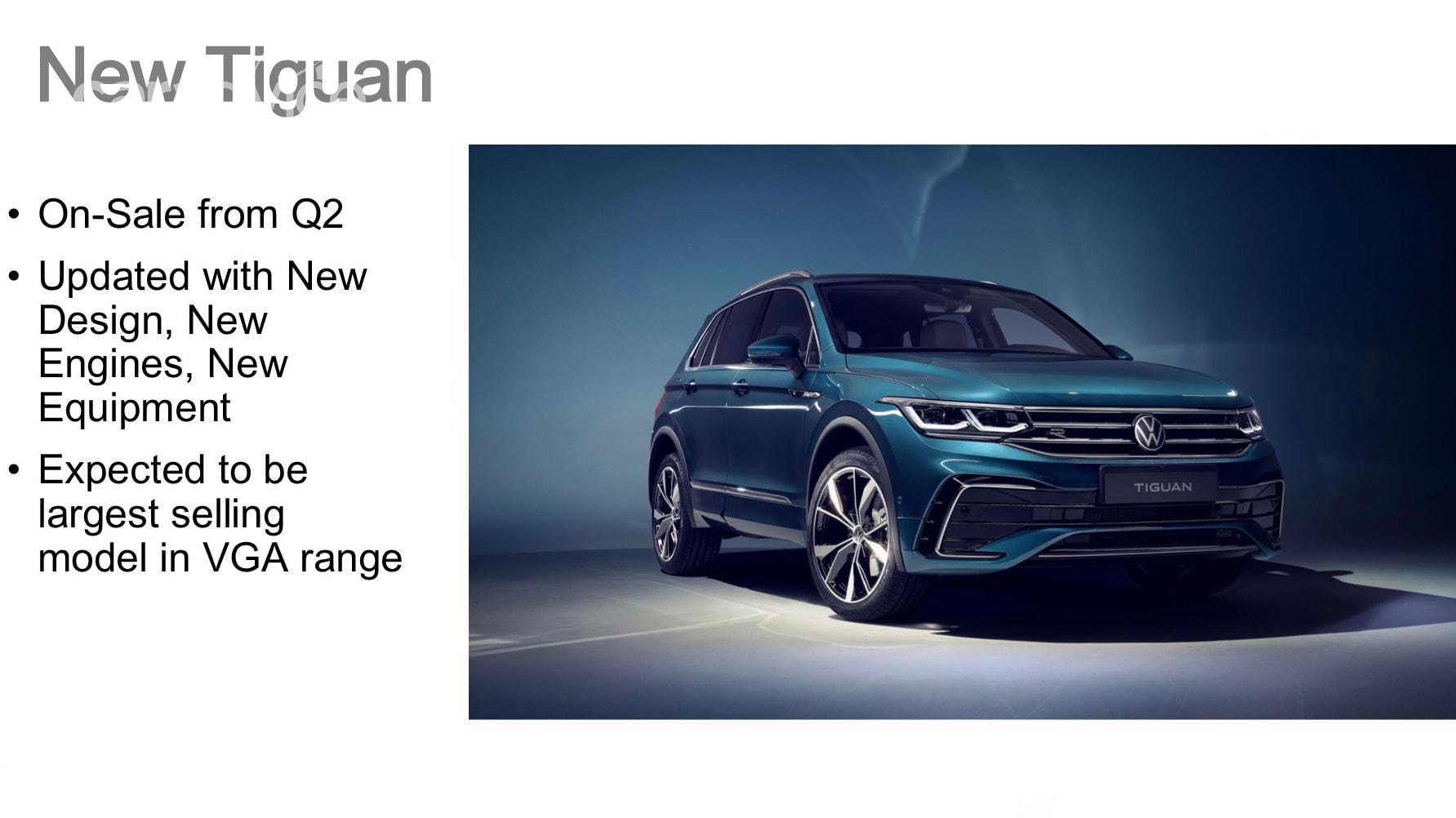 2021 Volkswagen Tiguan model range outlined, expected to ...