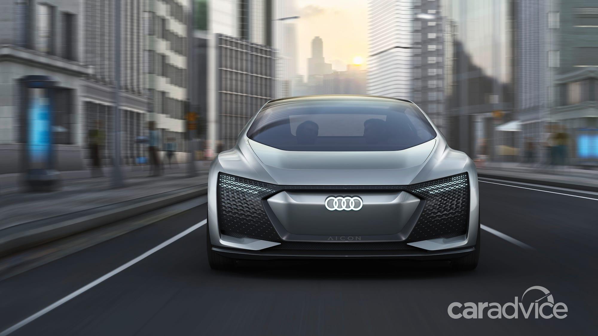 audi elaine and aicon: level 4 and 5 autonomous vehicles