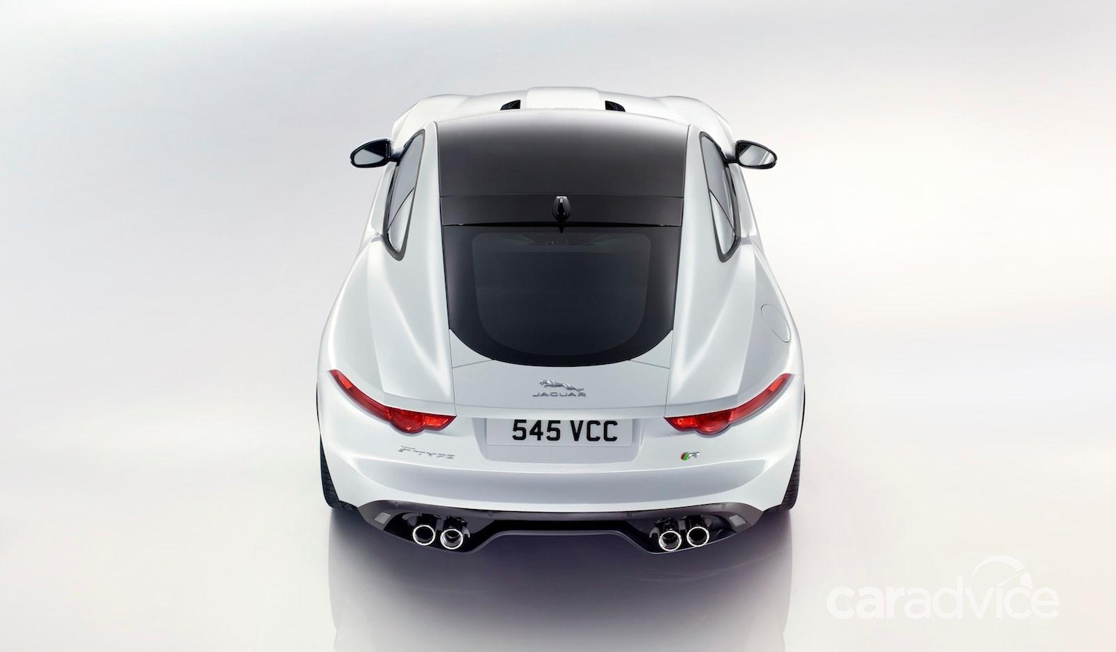 jaguar ftype r 404kw coupe heads hardtop range  caradvice