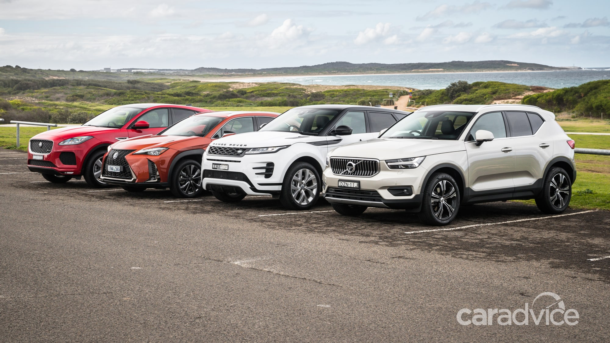 Premium SUV comparison: 2019 Range Rover Evoque v Jaguar E ...