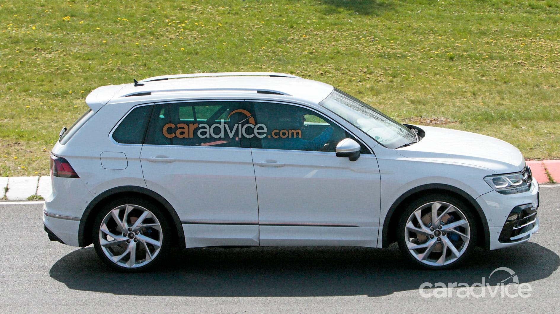 2021 Volkswagen Tiguan R spied during Nurburgring testing ...
