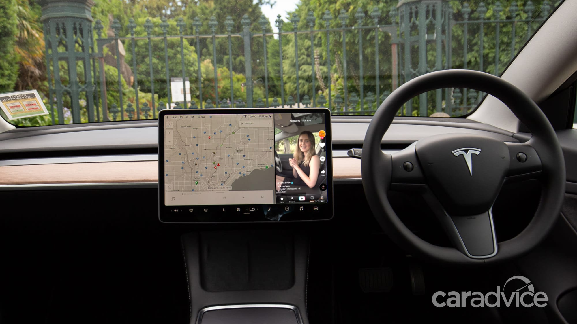 Tesla partners with TikTok to launch in-car video recording - 1 of 2