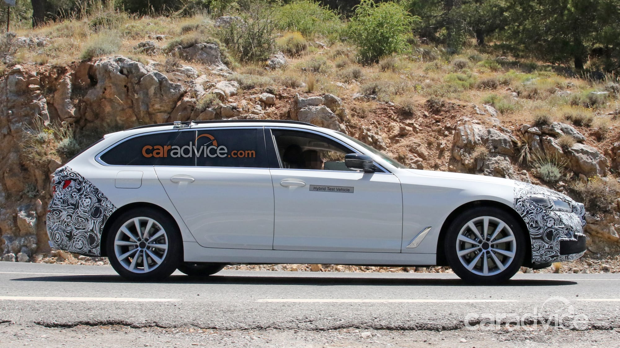 2021 bmw 5 series touring spied  caradvice