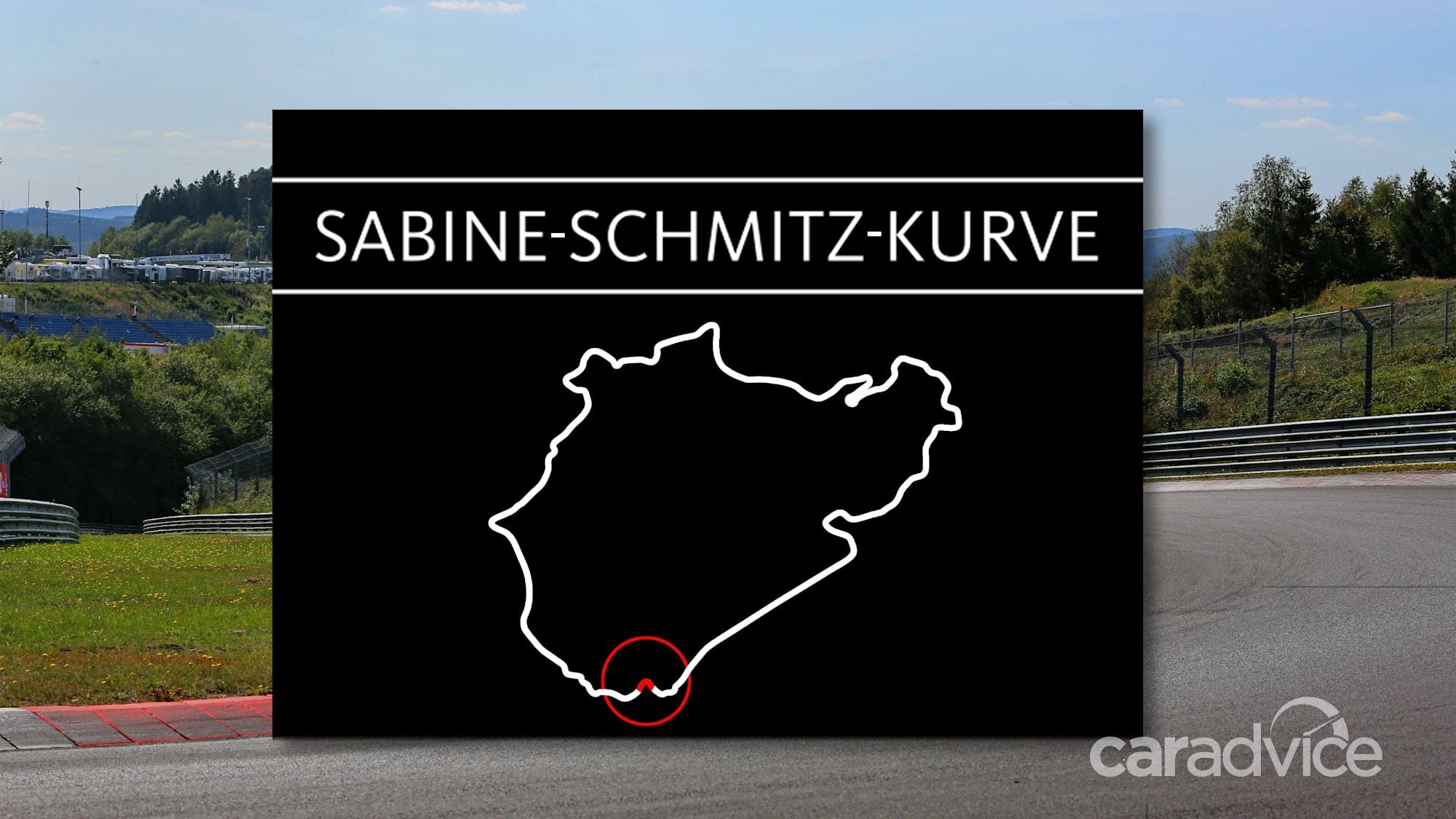 Angolo dei nomi dell'autodromo tedesco del Nürburgring dopo la compianta Sabine Schmitz - 2 di 2