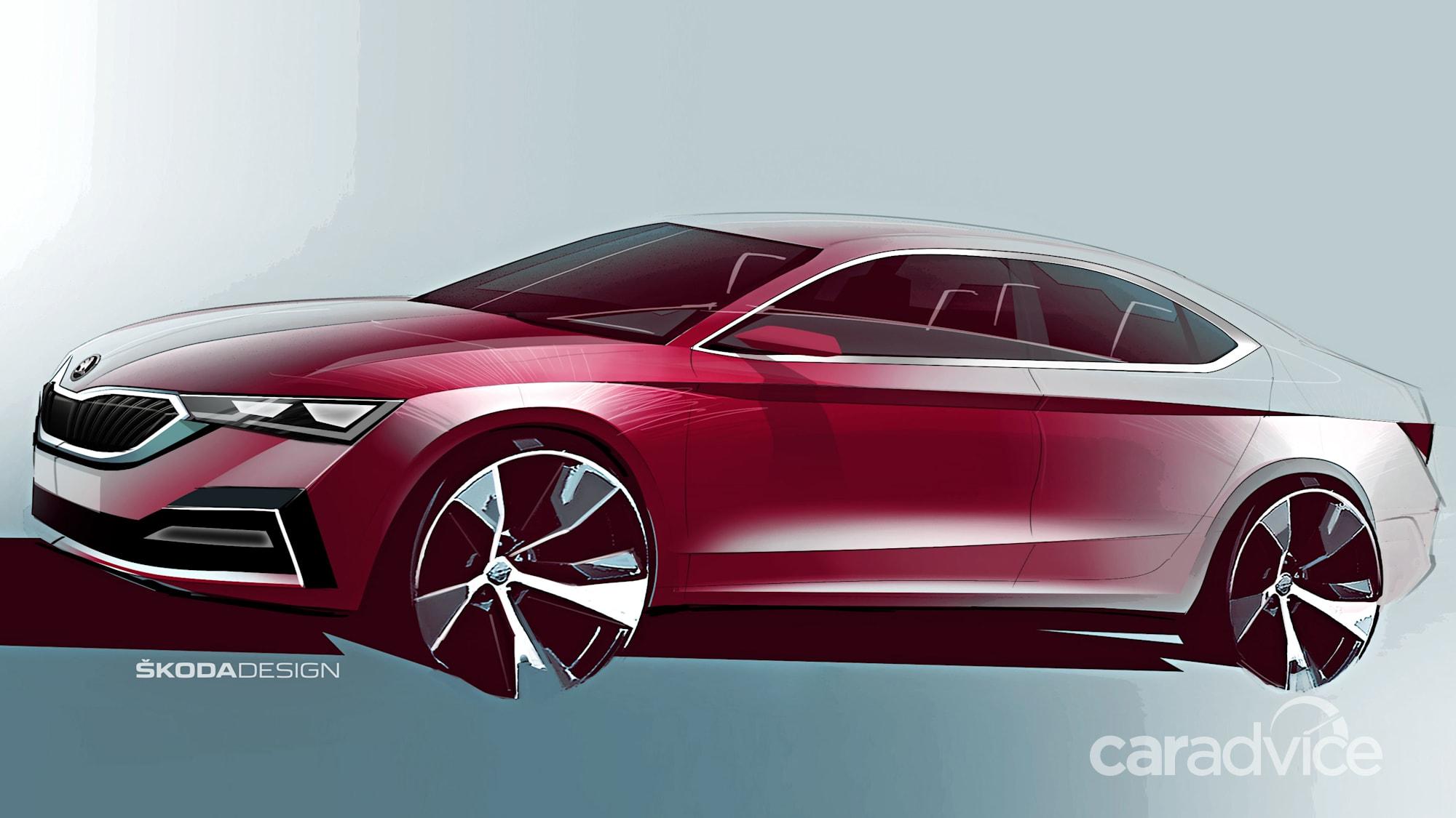 2021 Skoda Octavia sketched | CarAdvice