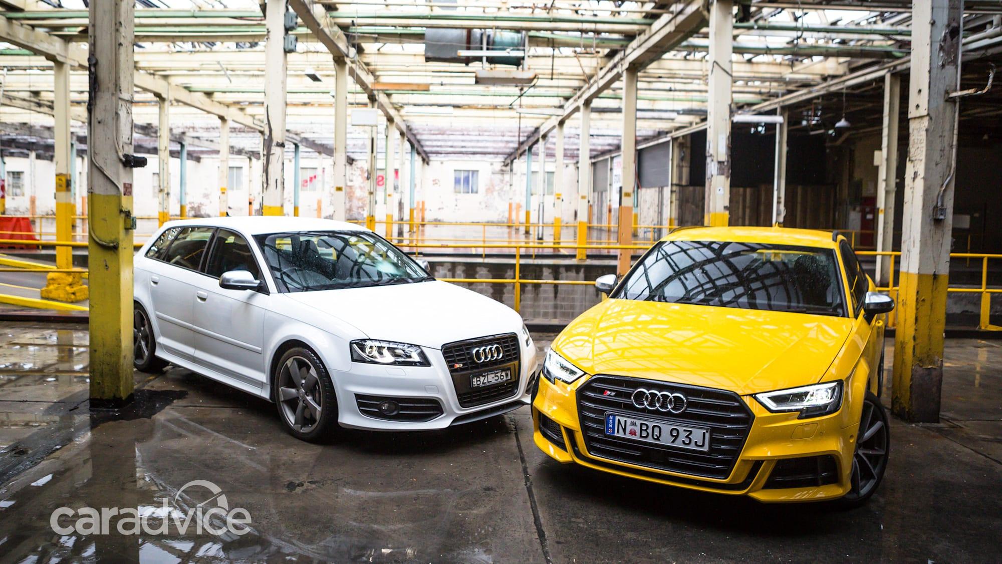 Audi S3 Sportback Old v New: 2017 Sportback v 2011 Black ...