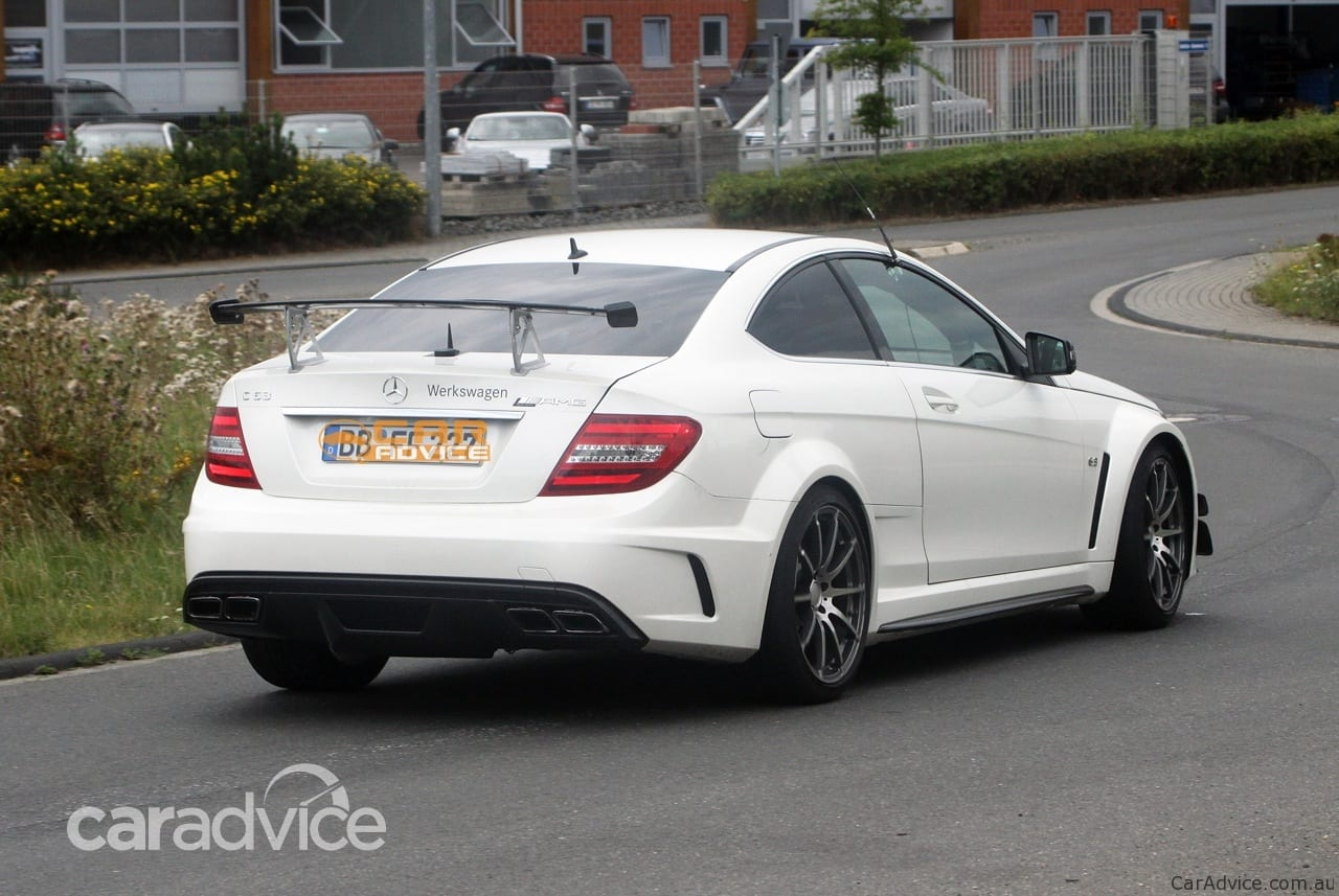 2012 Mercedes-Benz C 63 AMG Coupe Black Series spied with ...