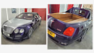 Tray chic: Bentley Continental Flying Spur ute custom-built in the UK