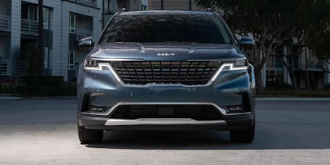 2022 Kia Carnival: New Kia logo here in September, but digital dash and auto wipers delayed to 2022