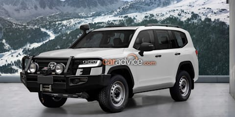 2022 Toyota LandCruiser 300 Series police car and base model imagined